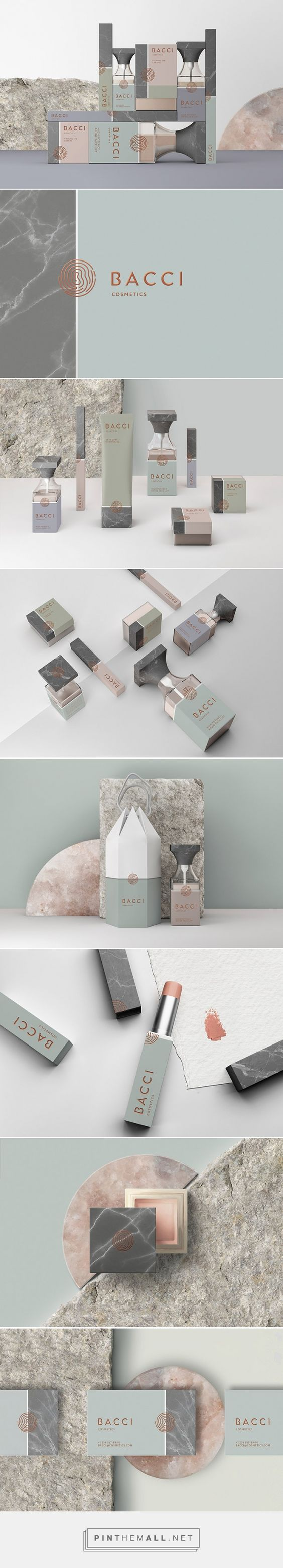Bacci cosmetics by Noname Branding. Source: Daily Package Design Inspiration. Pin curated by #SFields99 #packaging #design #inspiration #branding #cosmetics
