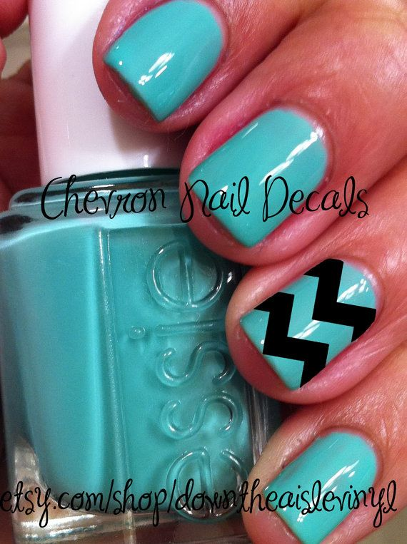 Chevron Nail Decals Set of 50 by DownTheAisleVinyl on Etsy, $5.00