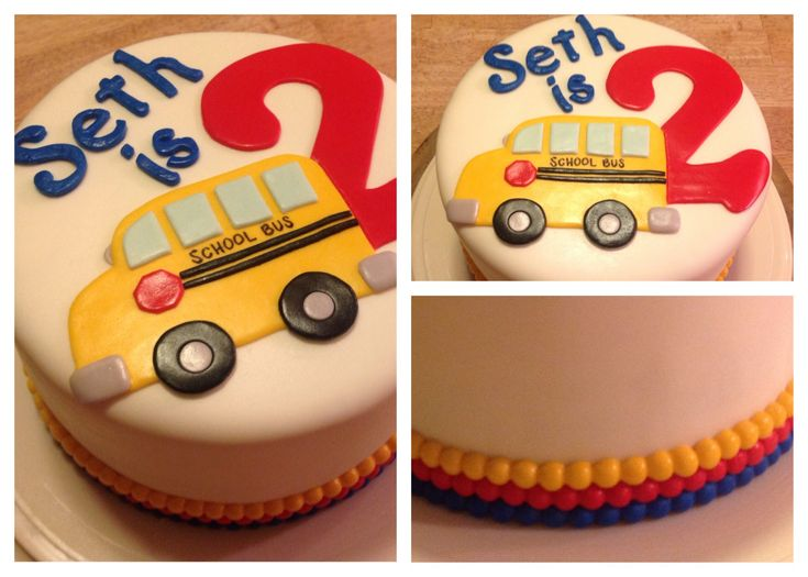 Seth's school bus birthday cake. This is a surprise on the inside (red & yellow checker board). I also steamed the fondant to create the soft shine to the cake.