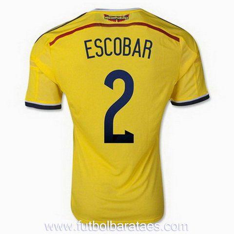 Nueva camiseta de Escobar 1st Colombia 2014-2016