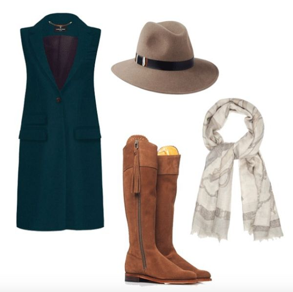 A gorgeous Town & Country Styling Edit, featuring our Mink Willow Fedora   Leather & Partridge Feather Band #penmayneoflondon #hats #fedora #katherinehooker #fairfaxandfavor #williamandson
