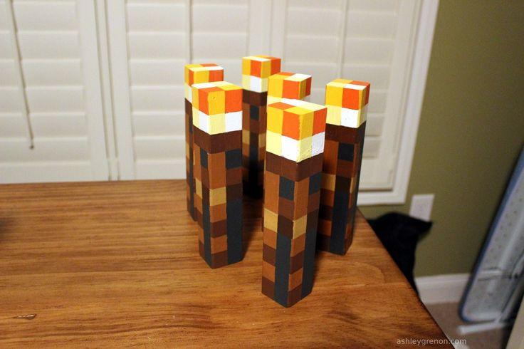 DIY Minecraft Torches
