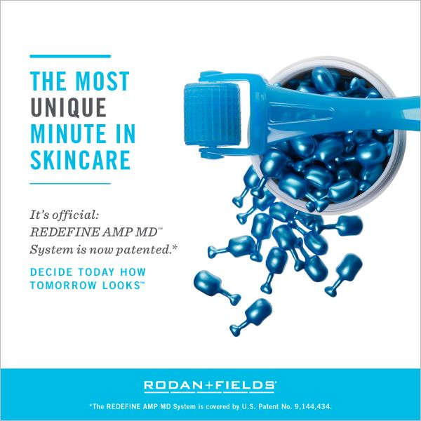 SO EXCITING!!!   We're rolling out a REDEFINE AMP MD Micro-Exfoliating Roller milestone: The AMP MD System is now patent-approved---yet another example of how the AMP MD is the best-spent minute in skincare.   If you would like to know more about it, message me!