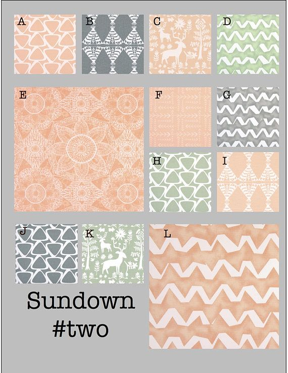 Custom Baby Crib Bedding- Design Your Own Modern Bedding-Dorm Bedding- Glider Cushions- Sundown #two