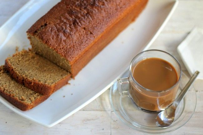 Receta de bizcocho de café casero, con fotos paso a paso de su elaboración y presentación. Ideal para desayuno y merienda