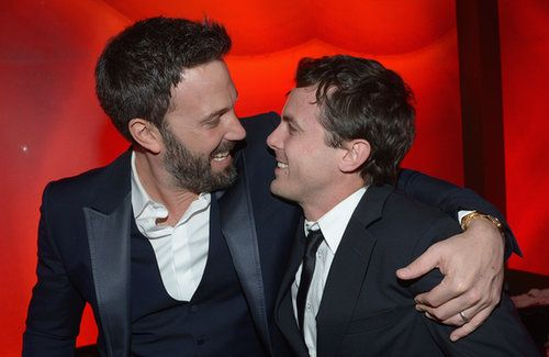 Ben and Casey Affleck Casey Affleck is three years younger than his brother Ben and is also childhood friends with Matt Damon. Both Affleck brothers are actors, directors, and dads; Casey has two kids with his wife, Summer Phoenix, and Ben has three children with actress Jennifer Garner. Source: Getty / Michael Buckner