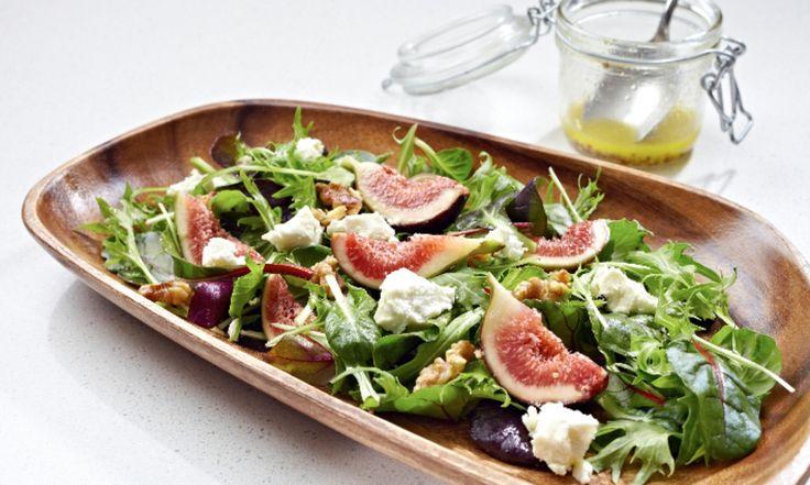 Sally Joseph's Fig, Walnut and Goats Feta Salad | Cobram Estate