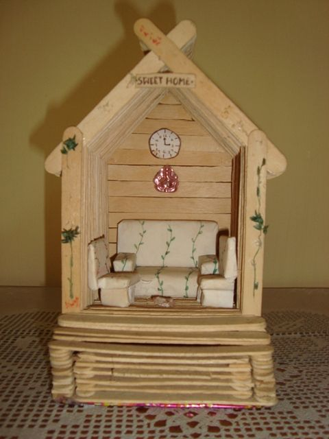 59 best popsicle stick creations images on pinterest for Popsicle stick creations ideas