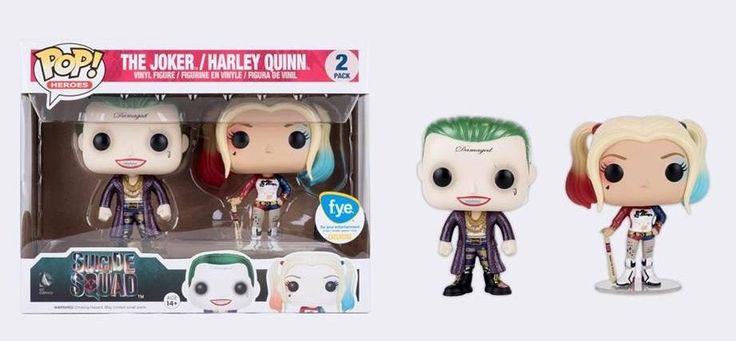Suicide Squad: Joke and Harley Quinn Pop figure set by Funko, FYE exclusive