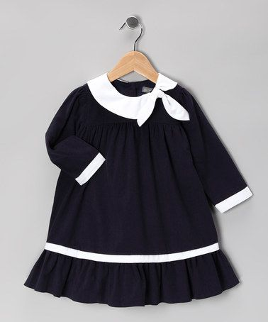 Navy Corduroy Dress