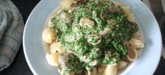 Pasta Met Kip,spinazie,champignons En Boursin recept | Smulweb.nl