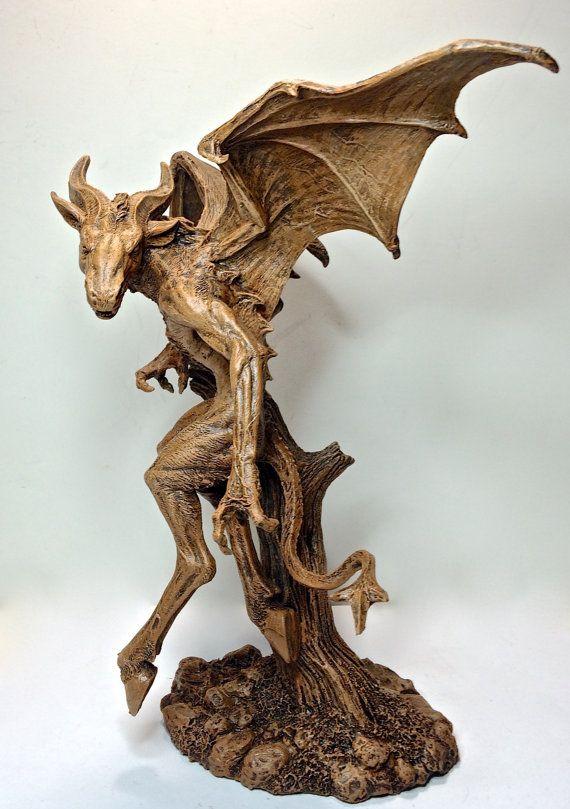 The Jersey Devil Statue by Dellamorteco on Etsy
