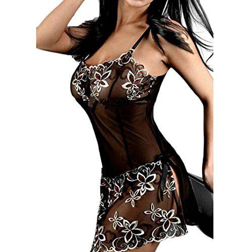 Amison Donne Nero Pizzo Stampa Sexy carina Lingerie Corsetto Indumenti da notte Pigiama Biancheria intima Gonne (L) in OFFERTA su www.kellieshop.com Scarpe, borse, accessori, intimo, gioielli e molto altro.. scopri migliaia di articoli firmati con prezzi in SALDO #kellieshop Seguici su Facebook > https://www.facebook.com/pages/Kellie-Shop/332713936876989