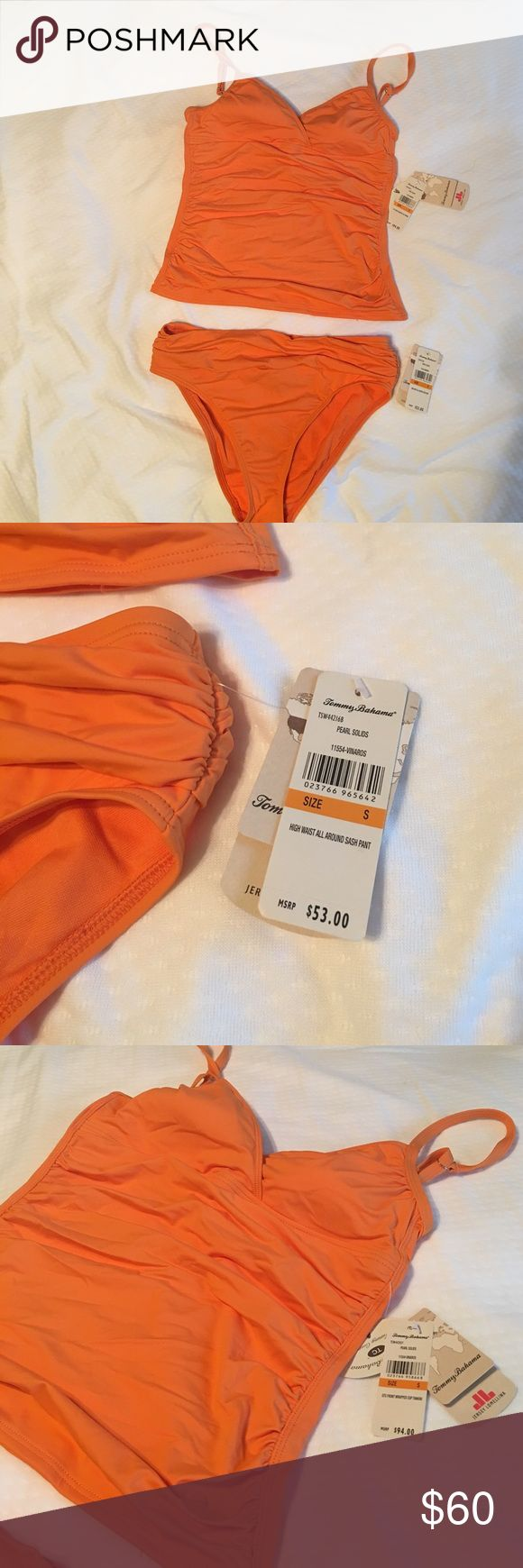 Tommy Bahama Tankini ❗️NWT❗️Tommy Bahama orange tankini. Bottoms are high waist according to tag. Never used!! Tommy Bahama Swim