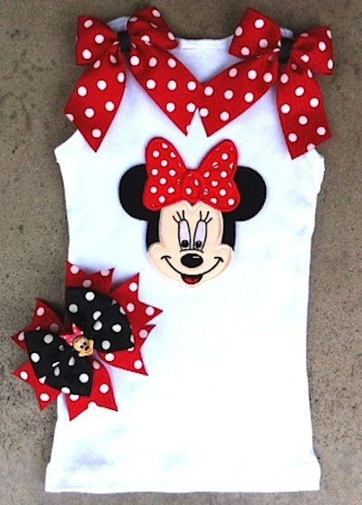 Minnie+Mouse+shirt+by+ChasenLondon+on+Etsy,+$35.00