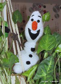 tuto gratuit Olaf de la Reine des Neiges au crochet