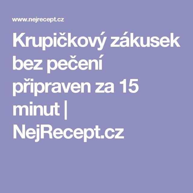 Krupičkový zákusek bez pečení připraven za 15 minut | NejRecept.cz
