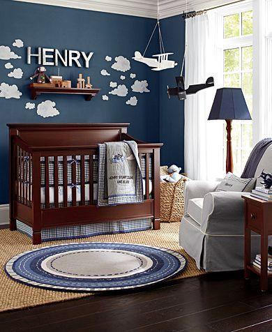 Babies Room Colors Sky Blue Dark Wood