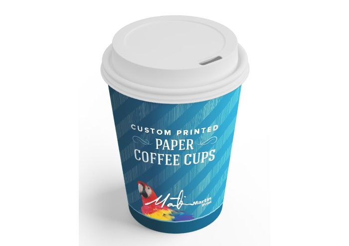 Steaming hot designs wrapped around your own custom-printed Paper Coffee Cups. Just add good coffee.