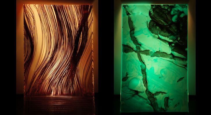 Decorative panels - acrylic couture range. Ideal for commercial fit-outs!