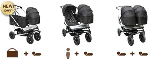 Great looking versatile double stroller. duet_travel_system_carrycots