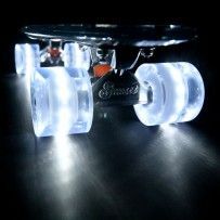 White Sunset Flare LED Skateboard Wheel Set (x4)