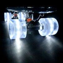 White Sunset Flare LED Skateboard Wheel Set (x4)