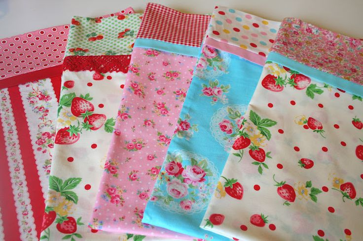 """lovely little handmades: a magic pillowcase tutorial-  I use this tutorial to make pillows except that I serge the seams instead of French seaming. For toddler pillows the main body is 17"""" x 28"""". The cuff is 9"""" x 28"""" and the accent strip is 2"""" x 28""""."""