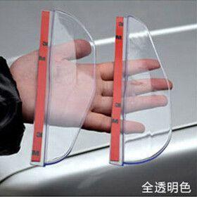 Car Styling Rearview Round Mirror Eyebrow Rain Shade Cover For Chevrolet TRAX Aveo Cruze Captiva Matiz Sonic Lova Sail