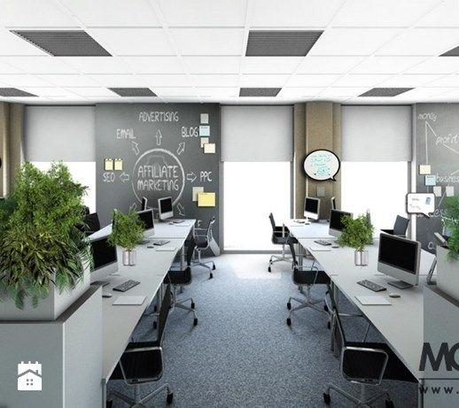 Nowoczesna przestrzeń biurowa - zdjęcie od Monostudio Wnętrza