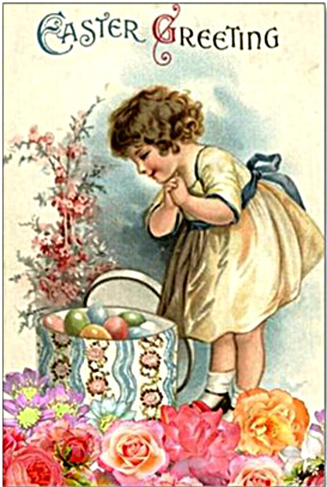 Hatbox of Easter eggs