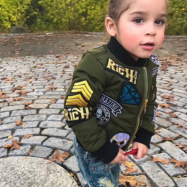 Bombers Jackets X Biker Jeans 💣👖 Who said dressing little boys isn't fun?? @hausofjr jeans @rich_boys bomber {more of this cuteness on my snapchat!}