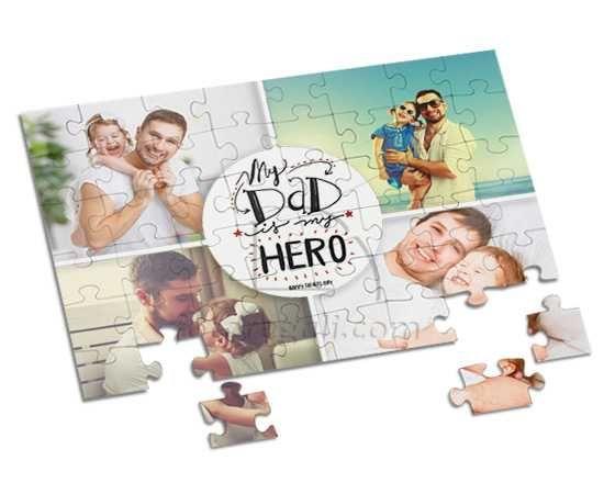 Foto puzzle A4 con grafica collage con scritta