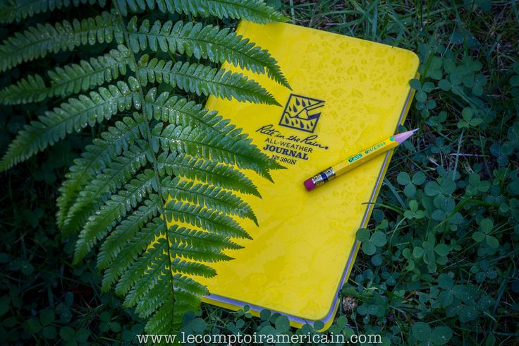 Carnets & cahiers Rite in the Rain #notebook #americanmade #americanproduct #madeinUSA #lecomptoiramericain #riteintherain #cahier #calepin #carnet #pen #yellow #jaune #étanche #waterproof #journal