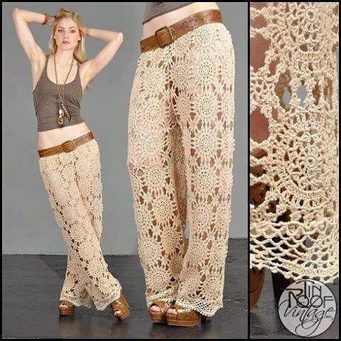 Pin de clara martinez en pantalones tejidos al crochet | Pinterest