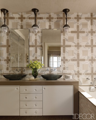 Smith Mosaic Tiles (style Chantes In Timber Beige, Calacatta Oro, Timber  Grey And Dark Umber) For Ann Sacks Featured In Jay Jeffersu0027 Master Bath, ...