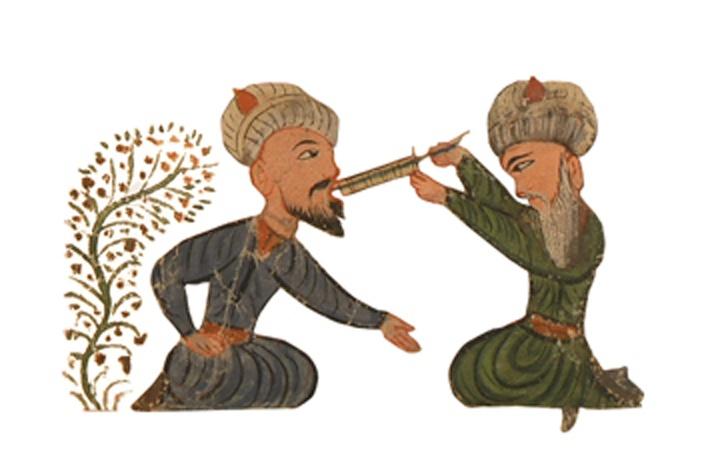 Minyatür/Miniature (Ottoman dentist) Cerrahiyyetü'l-Haniye,1456-1466.