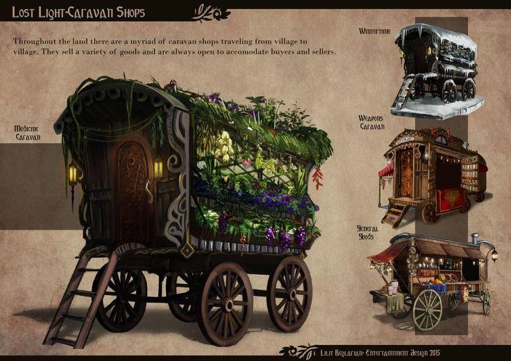 The Caravan Shops by Somatrasiel on DeviantArt