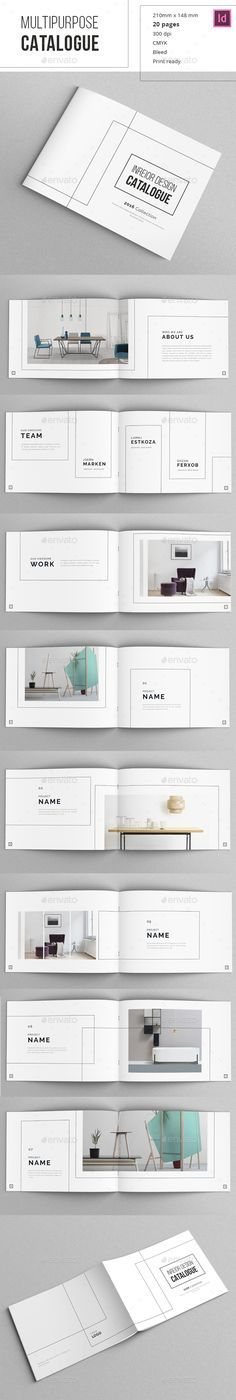 Minimal Indesign Catalogue Template 	InDesign INDD                                                                                                                                                                                 Más