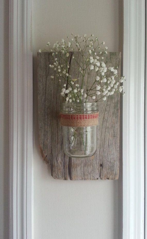 Mason Jar Wall Decor Pinterest : Wall vase craft ideas jars decor and