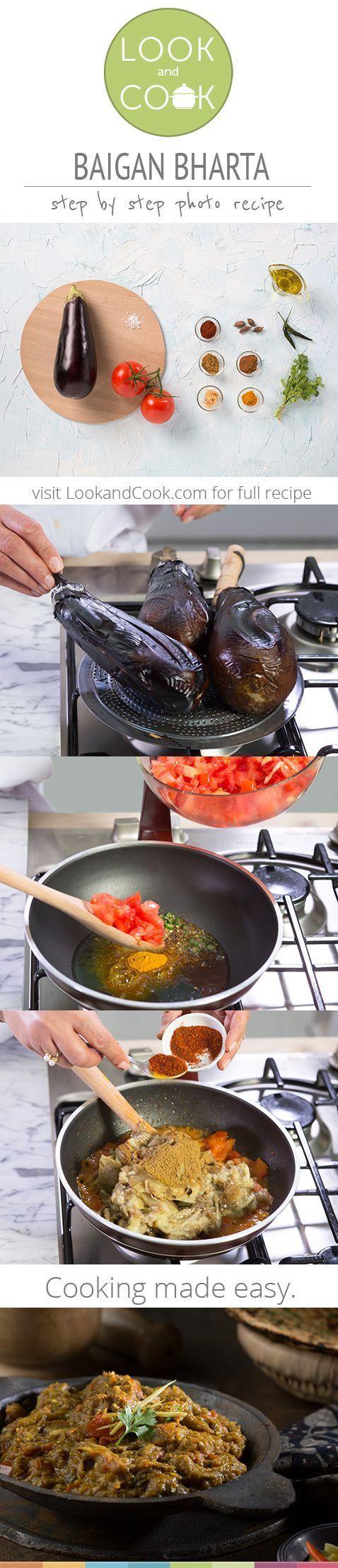 BAINGAN BHARTA RECIPE BAIGAN BHARTA RECIPE http://lookandcook.com/recipe/baingan-bharta-recipe/?layout=slide