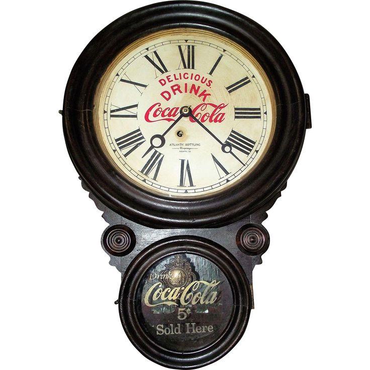 Coca-Cola 'Atlantic Bottling Company' Advertising Figure 8 Clock from the Atlantic Iowa Plant, circa 1929