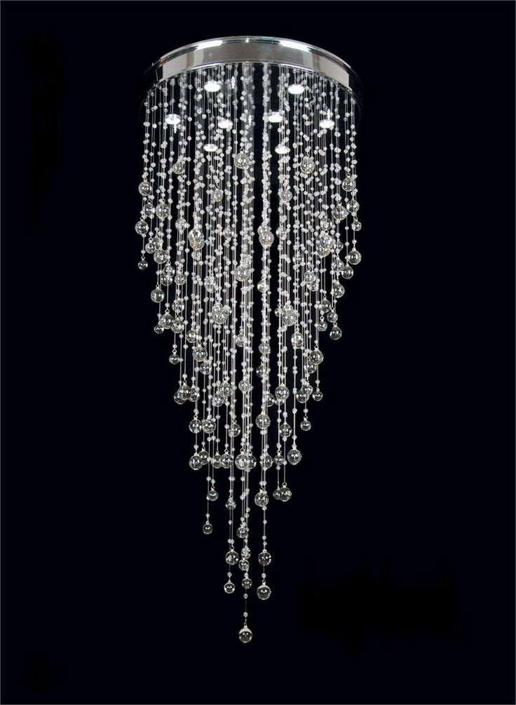 Amazing Unique Crystal Chandeliers Lighting Luxury Like A Falling Water