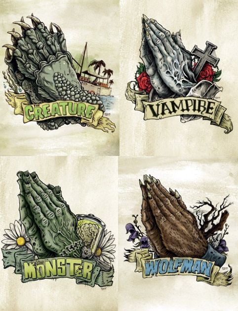 Cool Universal Monsters tattoo ideas.