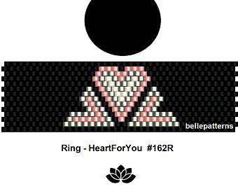 peyote ring patternPDF-Download 128R beading pattern