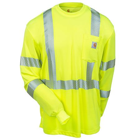 Carhartt Clothing Men's Lime 100496 323 Hi Vis Class 3 Force Long Slee