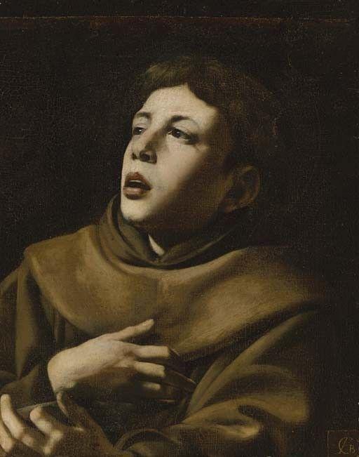 Artist: Giovanni Battista Caracciolo (Italian, 1578–1635). Title: Saint Anthony of Padua. Medium: oil on canvas. Size: 57.2 x 45.7 cm. (22.5 x 18 in.)