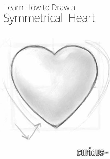 how to draw a symmetrical heart