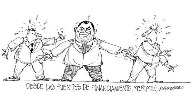 Acá nuestra caricatura de hoy:   Desde las fuentes de financiamiento