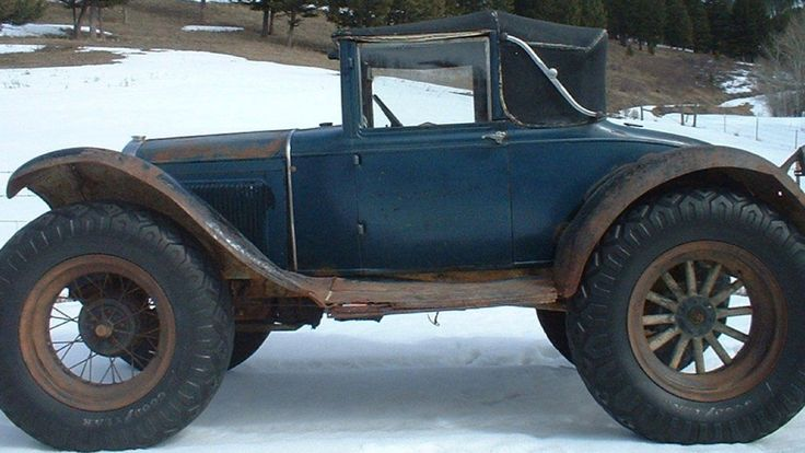 "From Truck Yeah!: People did amazing things to get their mail before we could send messages with a few buttons... like put off-road tires on wooden-spoked wheels. Here's the (mostly) complete and fascinating history of an ""off-road snowmobile coupe"", as told its by owner/seller who knows of ""at least three"" in existence."